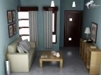 Desain ruang tamu minimalis ukuran 3x3 - ke 16