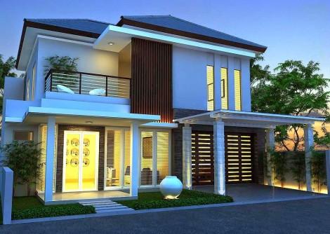 Desain rumah mewah minimalis modern 2 lantai - 1